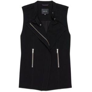 Aritzia Babaton black Redford zipper vest Moto